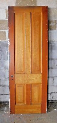 Antique Victorian Interior Four Panel Door - C. 1870 Fir Architectural Salvage