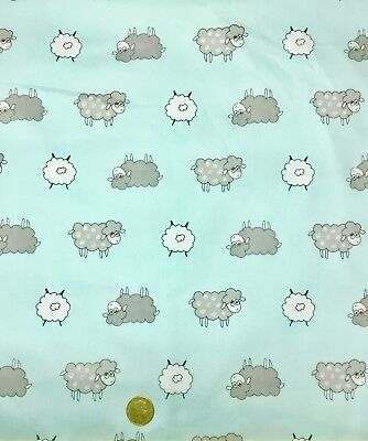 CLEARANCE SALE 1/2 metre Sheep Cartoon Toss Cotton Sewing Quilting Fabric SALE