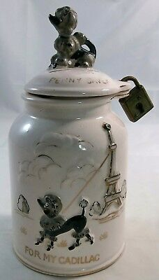 Lipper And Mann For My Cadillac Poodle Penny Saver Ceramic Coin Bank Japan