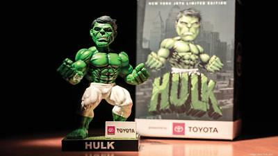 2018 NEW YORK JETS INCREDIBLE HULK Banner Bobblehead MARVEL SGA NFL Darnold Rare