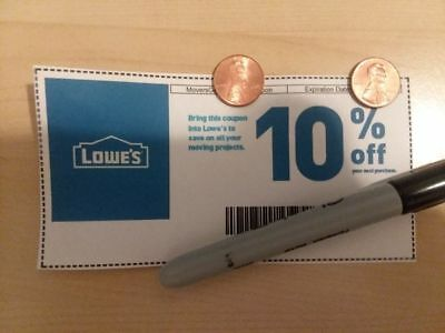 (5x)Lowe's 10%OFFCoupons-In store/online/12-31-18 Emailable (JUST ASK)