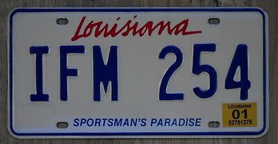 LOUISIANA Red Lipstick Script Style Sportsman's Paradise License Plate IFM 254