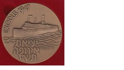 1947 Israel Exodus commemorative State Medal Bronze