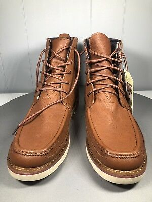 d6efad2eacf TOMS MENS SEARCHER Ankle Boots Size 9.5 Caramel Brown Full Grain Leather NWT