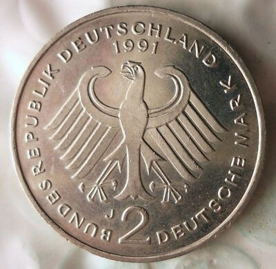 1991 J GERMANY 2 MARK - High Quality Collectible Coin - GERMAN BIN #10