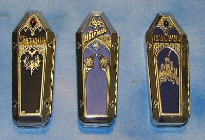 Franklin Mint Collectable Knives Dracula - Frankenstein - Werewolf With Cases