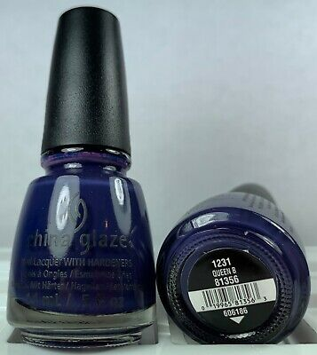 China Glaze Nail Polish * Queen B * 1231 #81356 Creamy Blue Purple NEW Lacquer