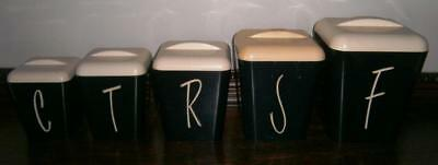 VINTAGE COLLECTABLE BLACK GAY WARE  CANISTER SET of 5