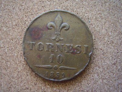 Naples and Sicily ten tornesi dated 1859