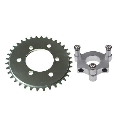 """CNC Silver 36T Sprocket With 1.5"""" Adapter Fit 60cc 66cc 80cc Motorized Bicycle"""