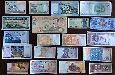 20 Different Mix World Banknotes Unc Lot35