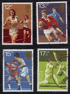 Great Britain: Sports Centenaries; complete fine used set