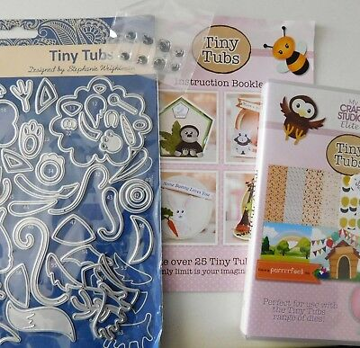 TINY TUBS DIE SET with Eye Stamps etl487 + Matching CD ROM + Book  TATTERED LACE