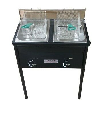 Chefspark Outdoor 2 Tank Well Fryer, 2 Baskets & Stainless Steel Oil Tank NOTE*
