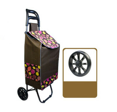 D206 Rugged Aluminium Luggage Trolley Hand Truck Folding Foldable Shopping Cart