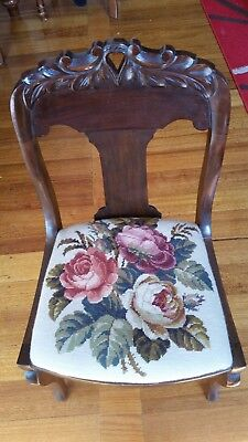 Tapestry seated chair. Beautiful floraltapestry in great condition.