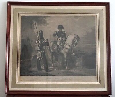 Engraving of Napoleon by Maile after a work by  Charlet - Early 19th Century
