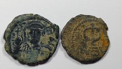 Lot Of 2 Rare Bronze Islamic Byzantine Coins //717