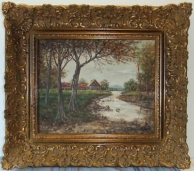 Oil Painting - Country Idylle - Signed