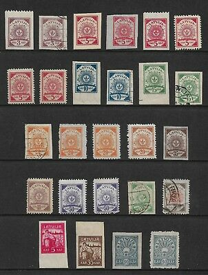 LATVIA mixed collection, 1918-1919, perf & imperf, mint & used