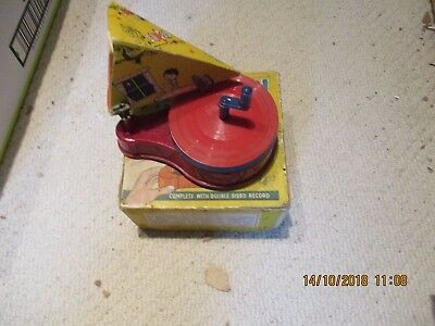 A gramophone toy wind up  Gramophone Phonograph boxed complete