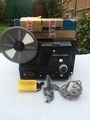 Chinon Sound 6100Z Zoom Lens Super 8 Sound Projector Opened Never Used Boxed