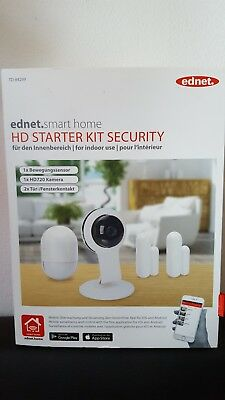 Ednet TD84299 Smart Home HD Starter Kit Security Innenbereich * – Neu u. OVP