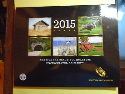 2015 America The Beautiful Quarters Uncirculated Coin Set