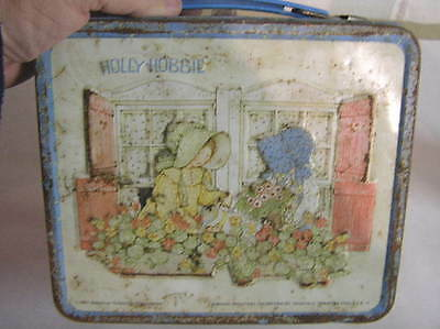 Vintage 1981 Holly Hobbie Metal Lunch Box/Plastic Thermos