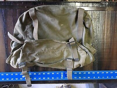 WWII US U.S. M1945 Field Cargo Pack,Army,Bag,Military,Canvas,Dated,Original
