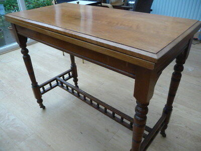 Edwardian Foldover Card Table