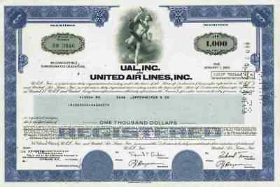 United Airlines UAL 1978 Chicago Illinois Lufthansa Boeing Debenture 1000 Dollar