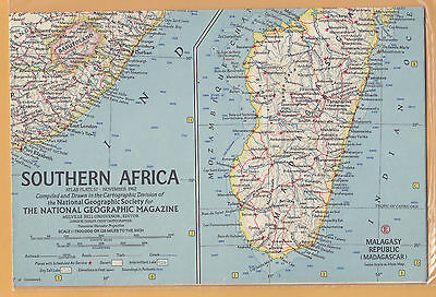 -N.G.S.        1962         Map        SOUTHERN   AFRICA                MINT