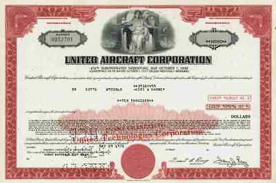United Aircraft UTC 1975 Otis Boeing Sikorsky Pratt Whitney 10.000 Dollar Bond