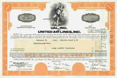 United Airlines UAL 1977 Chicago Illinois Lufthansa Boeing Goldman Sachs 100.000