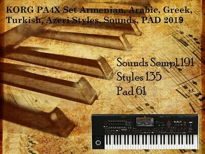 KORG PA SET Armenian, Arabic, Greek, Turkish, Styles, Sounds