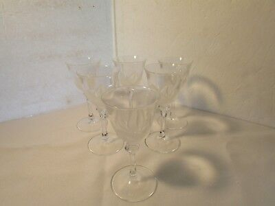 SET OF SIX (6) Cris D'arques Durand FLORENCE Sherry Glass 8044128