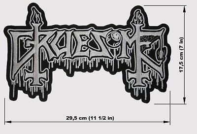 GRUESOME logo BACK PATCH embroidered NEW death metal