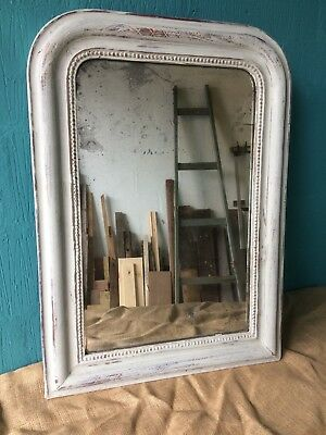 Antique French Foxed Mirror Grey Louis
