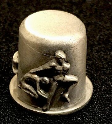 R.R. PEWTER THIMBLE With Human Figures. . T-270