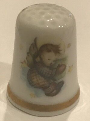 "Schmid ""A Gift from Heaven"" Porcelain Thimble 1984 2nd Edition. T-5"