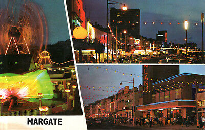 England - Margate  -  Dreamland - Shopping streets by night  -  1980