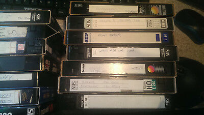 7 x Used Recordable VHS Cassette Tapes - Sold as blank