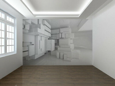 Abstract empty white room 3D photo Wallpaper wall mural (45534721)