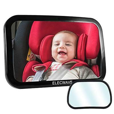 Baby Backseat Mirror for Car Elecwave Largest Safest and Most Stable Rear View