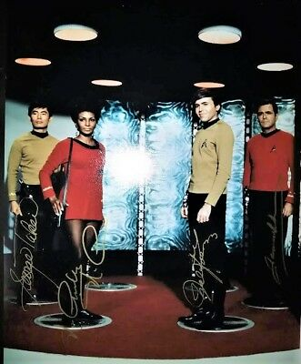 Star Trek Doohan Nichols Takei Koenig Signed 11 x 14 Photo
