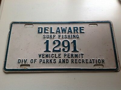 Delaware Surf Fishing 1291 Vehicle Permit Div. Of Parks And Recreation