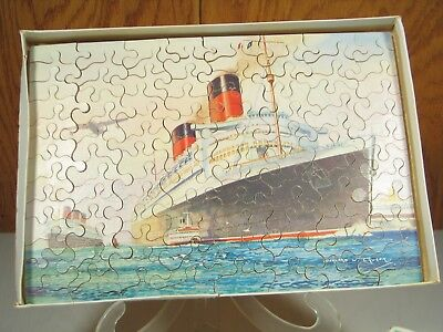 Cunard Rms Queen Elizabeth Chad Valley Puzzle Bernard Church 17249