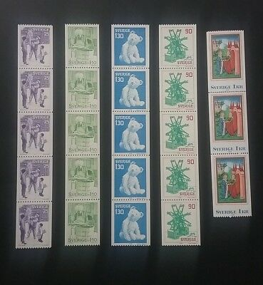 Sweden Mint stamps - Coils & Booklets
