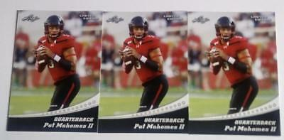 3 Pat Mahomes 2017 Leaf Limited Ed Rookie Cards Not Issued To Public Chiefs